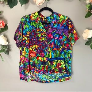Jams World | Dragonfly Rainbow button up